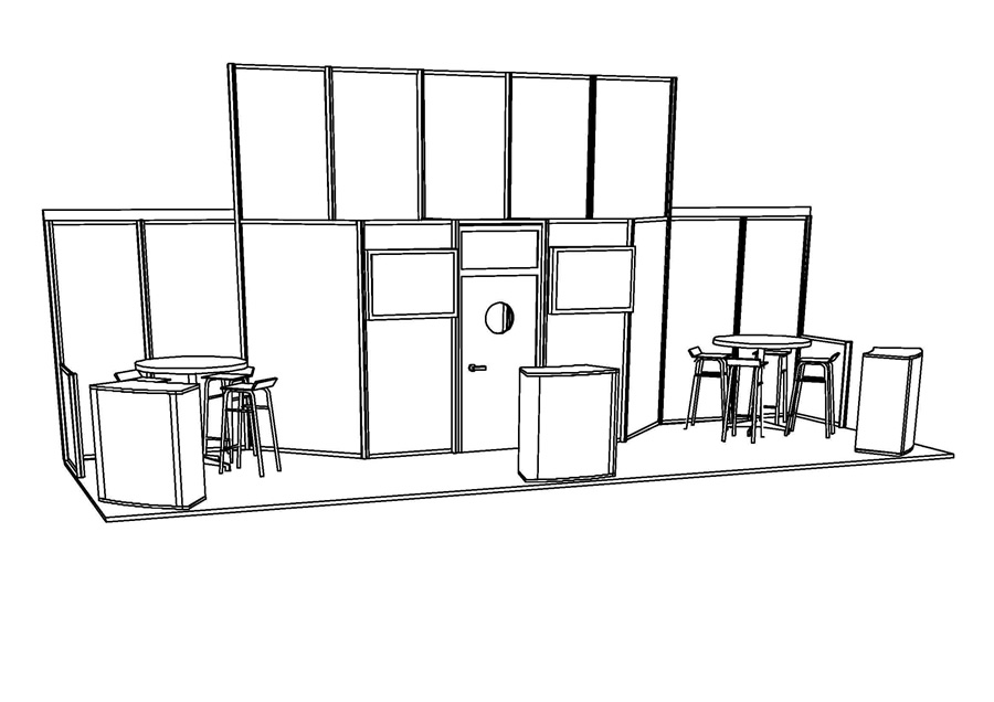 Exhibition Stand Risk Assessment : Exhibition stand design with autocad software