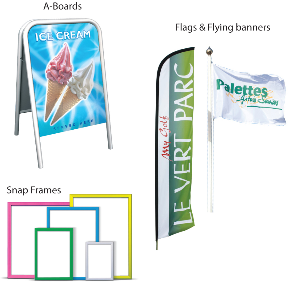 A Boards / Flags & Flying Banners / Snap Frames